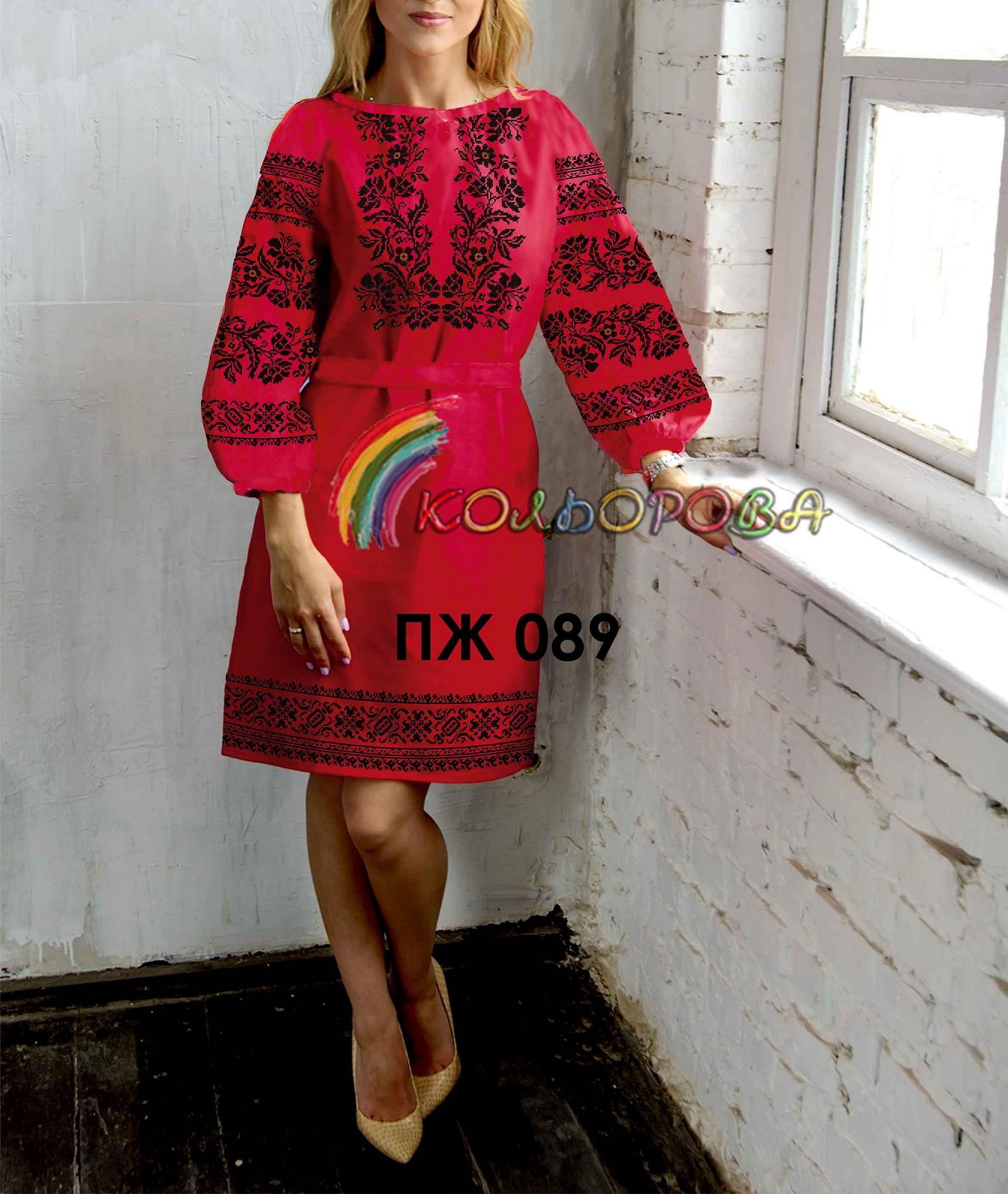 Заготовка плаття під вишивку бісером або хрестиком ПЖ-089 5bb9f127878ca