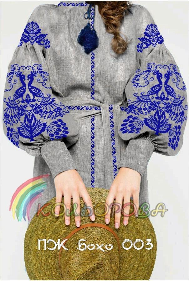 Заготовка під вишивку жіночого плаття в стилі бохо-003 5074dc0b18e06