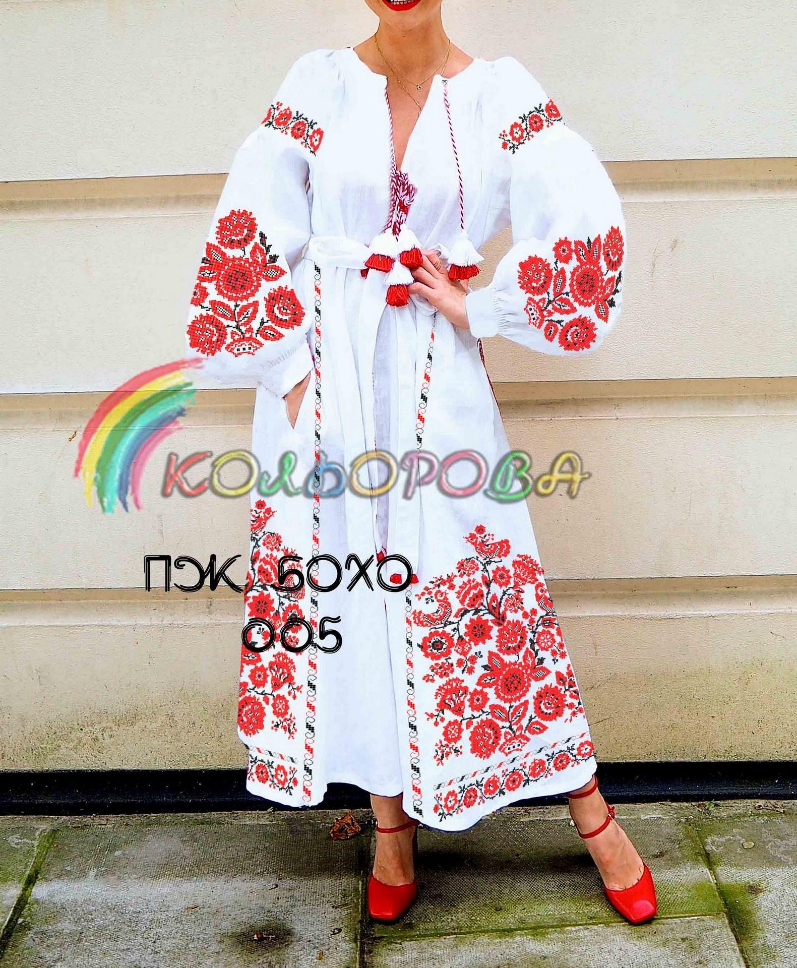 Заготовка під вишивку жіночого плаття в стилі бохо-005 6ec879ce04727