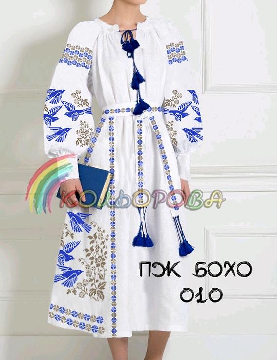 Заготовка під вишивку жіночого плаття в стилі бохо-010 951c634e36120