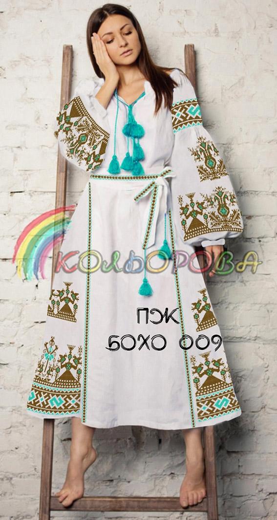 Заготовка під вишивку жіночого плаття в стилі бохо-009 ad0ac51d9acaa